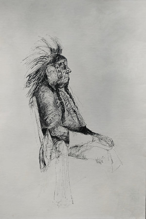 Pen and ink drawing from life at Ringling School of Art.