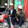Two characters in Bamei, Sichuan Province. 2005