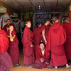 Student monks debating. Tibetan Monastery near Bamei, Sichuan Province. 2005