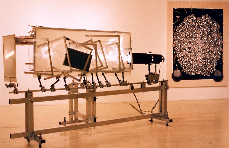 "exit art ""NEO"" show: modern - post modern signs. reflective & dependendant mind."