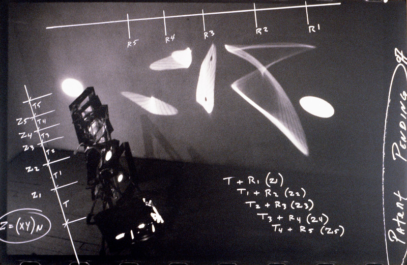 vector space of corresponding and lateral relations in light