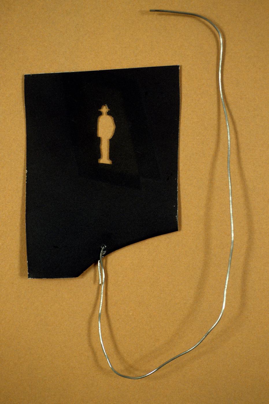 """Dancer & Bystander. Aluminum projection slide, 2"""" x 2"""", 1997."""