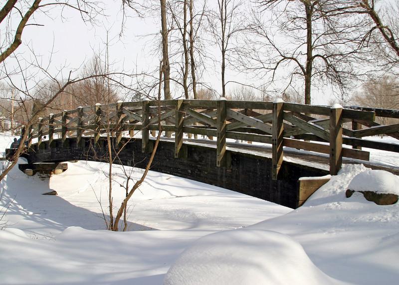 Bridge in park in Cedarburg, WI