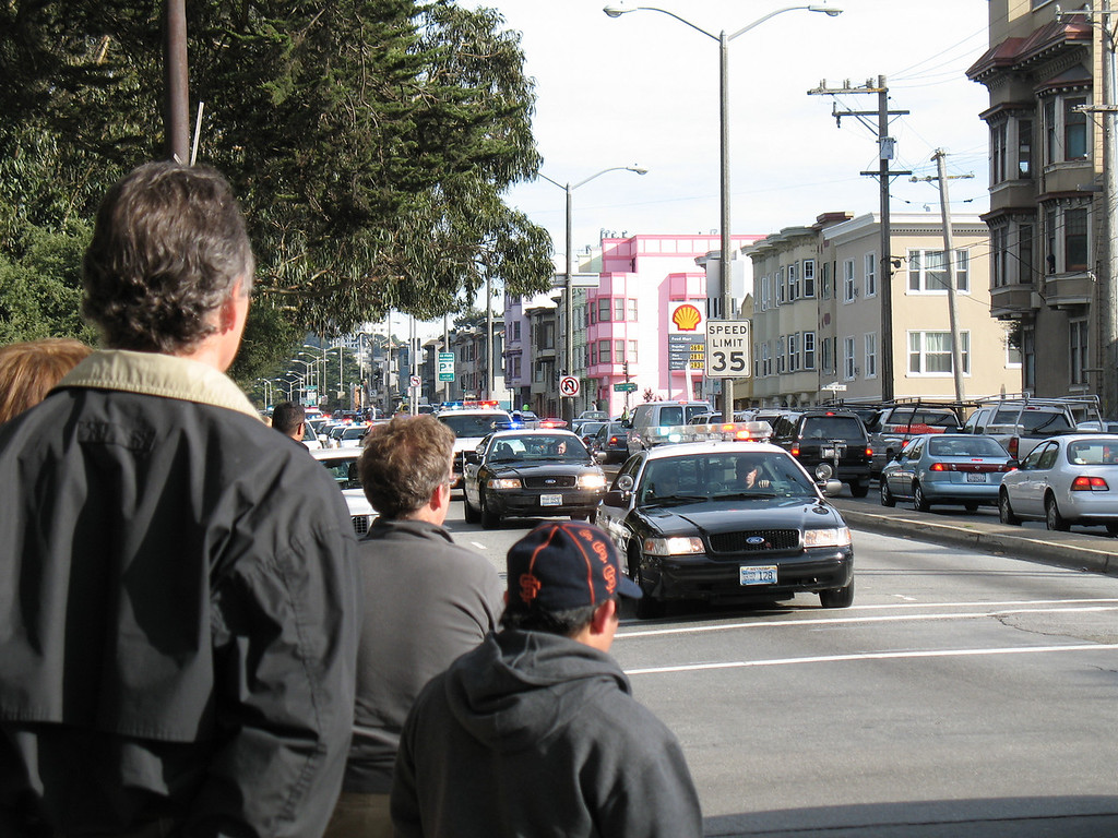 SFPD Funeral Procession, San Francisco, CA.  December 2006. Image Copyright 2006 by DJB.  All Rights Reserved.