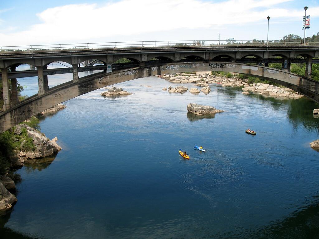 Rainbow Bridge, Folsom, CA.  July 4, 2006. Image Copyright 2006 by DJB.  All Rights Reserved.