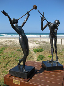 Joie de Vivre, by Frank Miles - SWELL Sculpture Festival, Currumbin,  http://www.swellsculpture.com.au/  12 September, 2008
