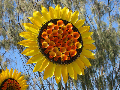 Sunlight Flowers, by Lynne Adams - SWELL Sculpture Festival, Currumbin, http://www.swellsculpture.com.au/  12 September, 2008