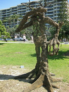 Forest Meets the Sea, by Clyde Watts & Dean Nikijuluw - SWELL Sculpture Festival, Currumbin, http://www.swellsculpture.com.au/  12 September, 2008 - SWELL Sculpture Festival, Currumbin, http://www.swellsculpture.com.au/  12 September, 2008