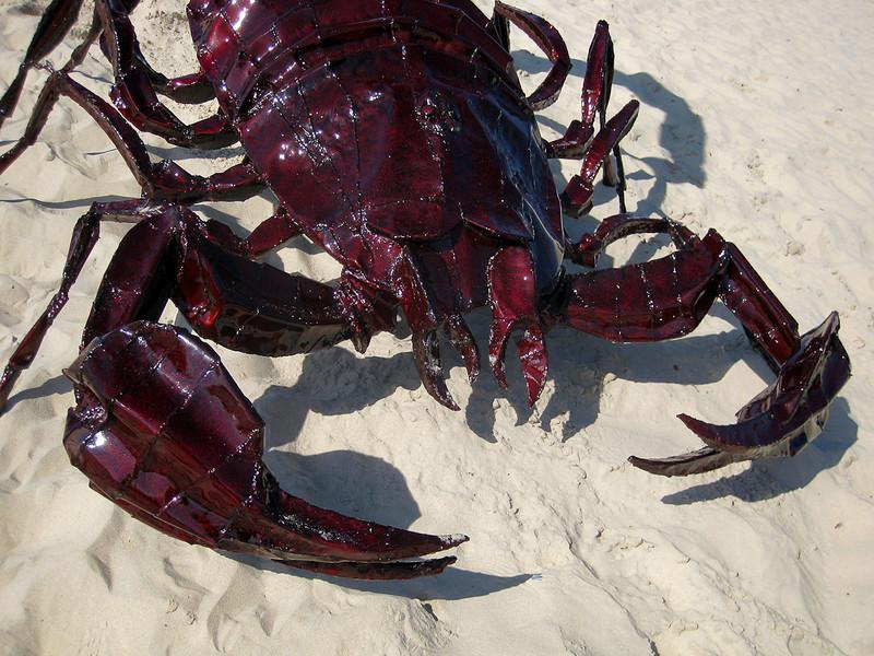 Scorpsi, by Daniel Clemmett - SWELL Sculpture Festival, Currumbin, http://www.swellsculpture.com.au/  12 September, 2008