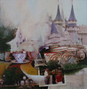 Our Trip to Disney World, 1975<br /> (My Favorite Ride Was The Teacup Spin)<br /> Mixed Media Collage, 2009