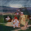 All-Star Game, 1972<br /> (We Went To Lots of Baseball Games)<br /> Mixed Media Collage, 2009