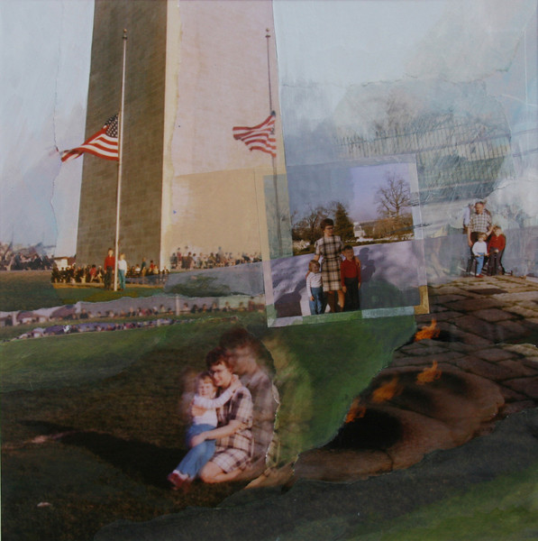 Washington, D. C., 1969<br /> (Flags Were At Half-Mast for Dwight Eisenhower)<br /> Mixed Media Collage, 2009
