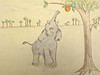 5. New. EXTENDING HIS TRUNK AS FAR AS HE COULD REACH AND BALANCING ON HIS TIPPY TOES, THE FRUIT WAS JUST OUT OF REACH.