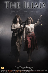 Promotional poster for Curio Theatre's two actor production of The Iliad.