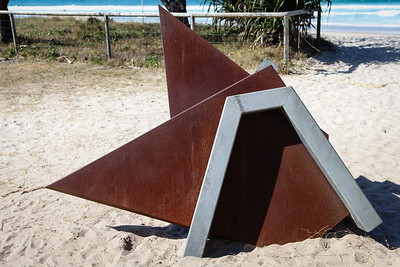 Tsunami 3, Jacek Wankowski - Swell Sculpture Festival 2012, Visit 1; Currumbin, Gold Coast, Queensland, Australia; 20 September 2012. Photos by Des Thureson