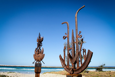 Harvest Dancers, Jack Quilter - Swell Sculpture Festival 2012, Visit 1; Currumbin, Gold Coast, Queensland, Australia; 20 September 2012. Photos by Des Thureson