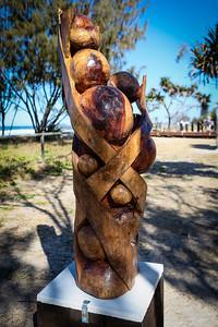 Ruptured Helix, Eric Green - Swell Sculpture Festival 2012, Visit 1; Currumbin, Gold Coast, Queensland, Australia; 20 September 2012. Photos by Des Thureson
