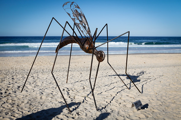 Mosquito, by Ibrahim Koc - Swell Sculpture Festival 2012, Visit 1; Currumbin, Gold Coast, Queensland, Australia; 20 September 2012. Photos by Des Thureson