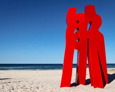 Embrace of Love, Liu Yonggang - Swell Sculpture Festival 2013, Visit 1; Currumbin, Gold Coast, Queensland, Australia; 18 September 2013. Photos by Des Thureson