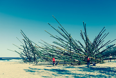 "Alternate Processing: ""Cross Process 3"" - De oogst (The Harvest), Georges Cuvillier - Swell Sculpture Festival 2013, Visit 1; Currumbin, Gold Coast, Queensland, Australia; 18 September 2013. Photos by Des Thureson"