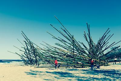 "Alternate Processing: ""Cross Process 3"" - De oogst (The Harvest), Georges Cuvillier - Swell Sculpture Festival 2013, Visit 1; Currumbin, Gold Coast, Queensland, Australia; 18 September 2013. Photos by Des Thureson"