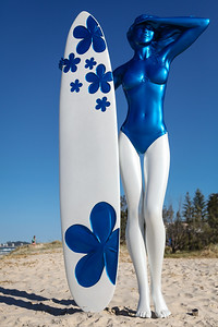 Blue Perspective, John Cox - Swell Sculpture Festival 2013, Visit 1; Currumbin, Gold Coast, Queensland, Australia; 18 September 2013. Photos by Des Thureson