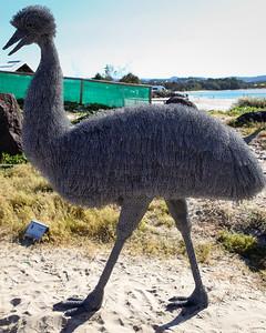 Curious Bird, Ivan Lovatt - Swell Sculpture Festival 2013, Visit 1; Currumbin, Gold Coast, Queensland, Australia; 18 September 2013. Photos by Des Thureson