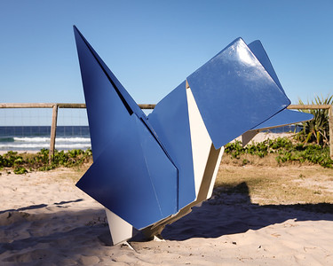 Blue Wren, Brad Jackson - Swell Sculpture Festival 2013, Visit 1; Currumbin, Gold Coast, Queensland, Australia; 18 September 2013. Photos by Des Thureson
