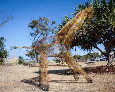 Caged, Bradley Hill - Swell Sculpture Festival 2019 (People.Art.Place.) Visit 2; Currumbin, Gold Coast, Queensland, Australia; 20 September 2019. Photos by Des Thureson - http://disci.smugmug.com