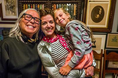 (L-R) Lourdes Livingston, Farrah Spott and Robert Flynn Johnson's granddaughter