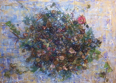 Capri - December 2012 - 36x48 -mixed media on canvas.