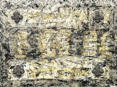 Winter Dreams - 36x48 - mixed media on canvas.