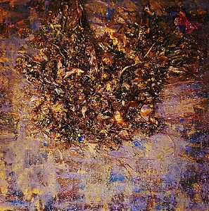 Madame Butterfly - November 2012 - 36x48 - mixed media on canvas.