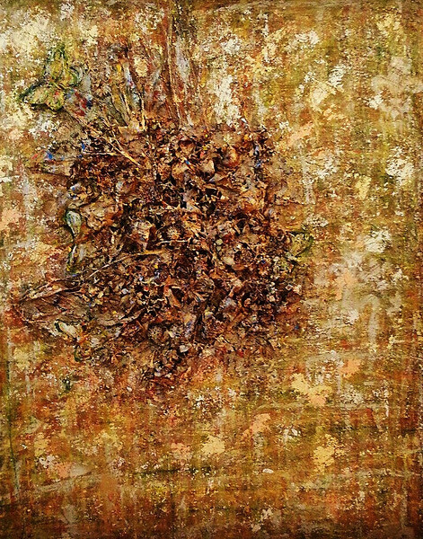 Indian Summer - November 2012 - 36x48 - 3Dimenisional mixed media on canvas.