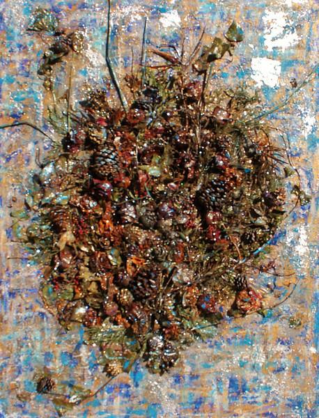 Blue Rhapsody - December 2012 - 36x48 - 3dimensional mixed media on canvas.