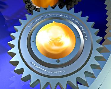 3D Studio Max CGI of Gears and chain