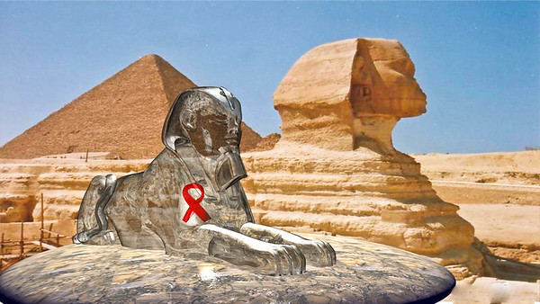 3D CGI OF Sphinx over real photo glass finish  3D Studio Max