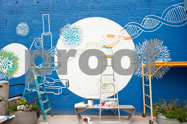 4 30 13 university of texas at tyler students paint mural at