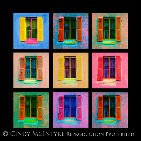 Pink Window 9-Sq 13x13 copy