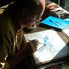 Spinner Dolphins, watercolor, oct 23, 2012 DSCN1745