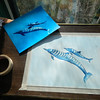 Spinner Dolphins, watercolor, oct 23, 2012 DSCN1746