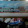 Main Street: Saranac Lake, 12x36, oil, jan 22, 2013