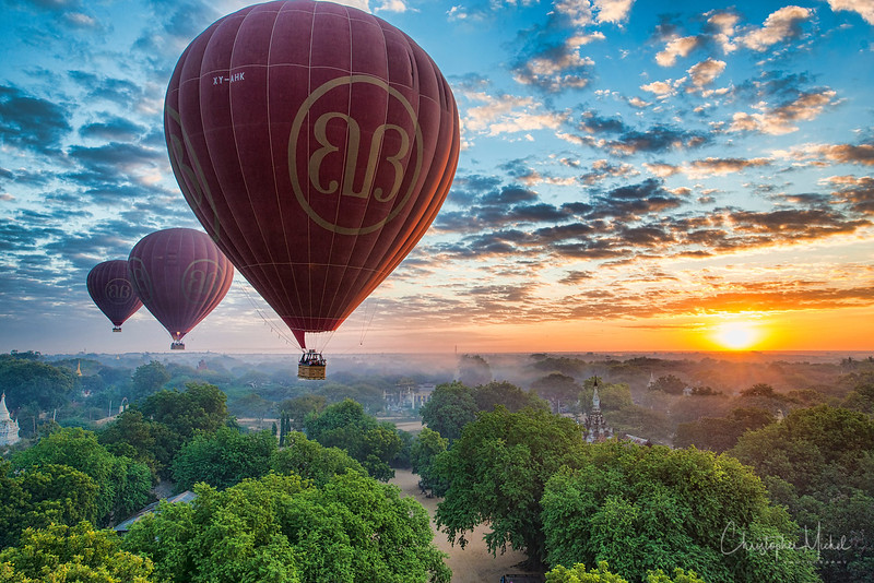 Sunrise over Bagan.