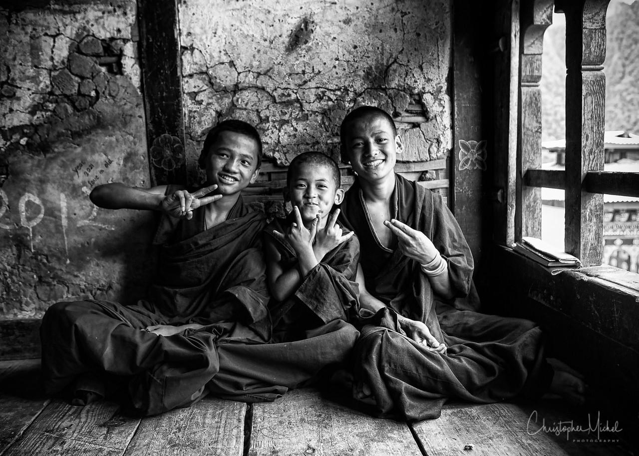 Novices in Bhutan.