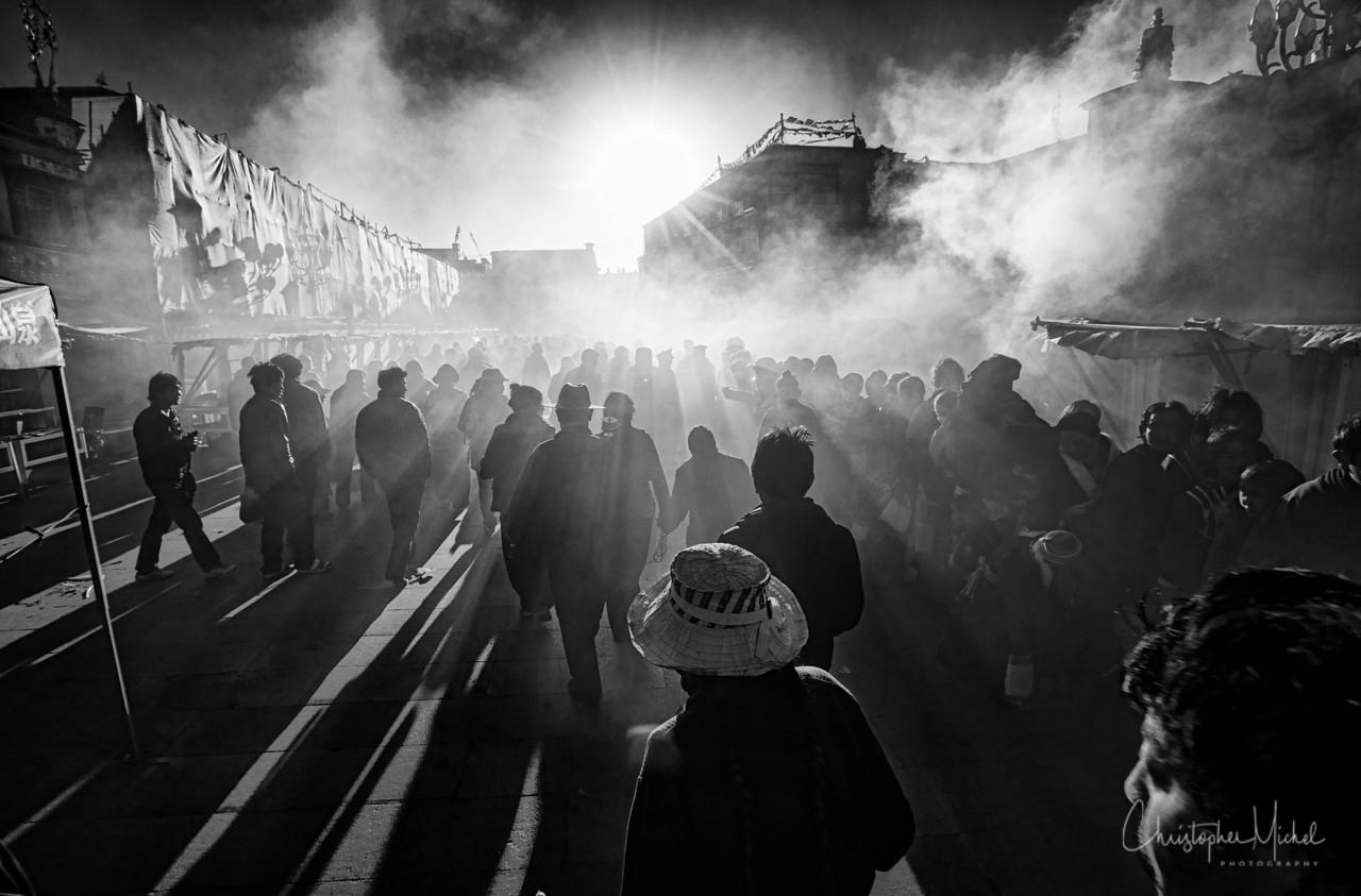 Morning Kora in Lhasa, Tibet.