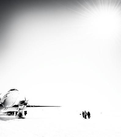 A DC-3 in Gould Bay, Antarctica.