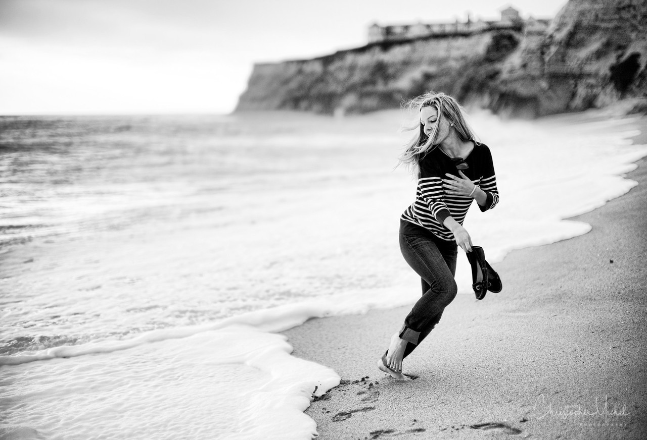 Sophia running in the late afternoon.