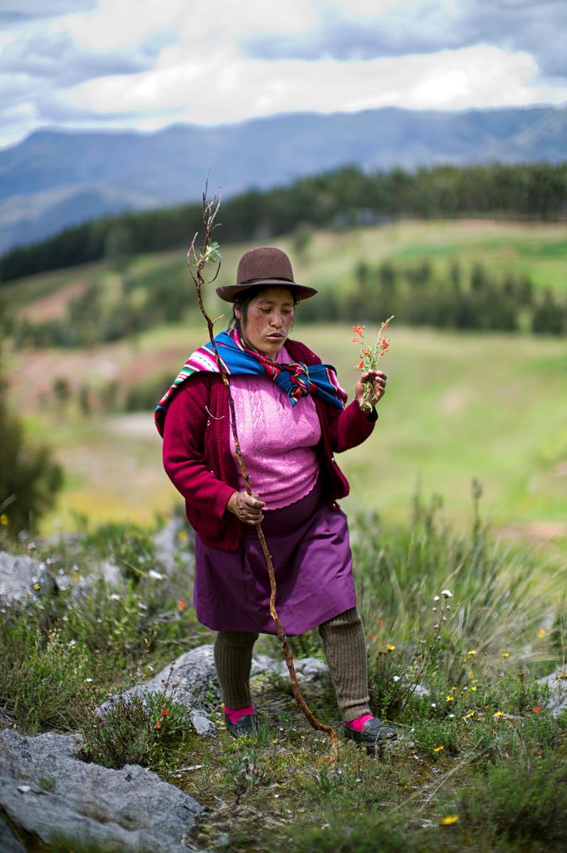 A country walk in Cusco, Peru.