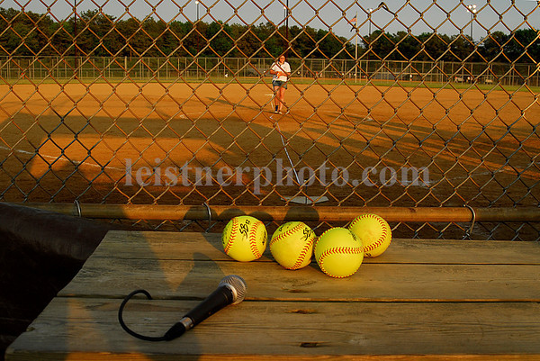 Bellport, NY Softball Fields. Changing pitcher's mound from girls' softball to men's softball.