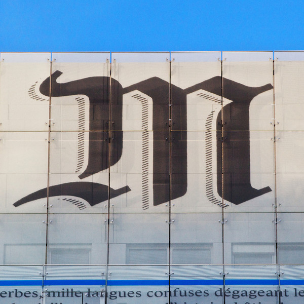 """M"" at the headquarters for Le Monde newspaper"